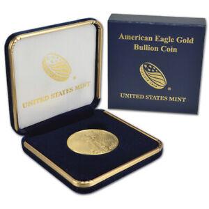 2021 American Gold Eagle 1 oz $50 - BU coin in U.S. Mint Gift Box
