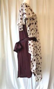 TSUMORI-CHISATO-MINT-Burgundy-Purple-Gold-White-Ribbon-Silk-Dress-Garcons