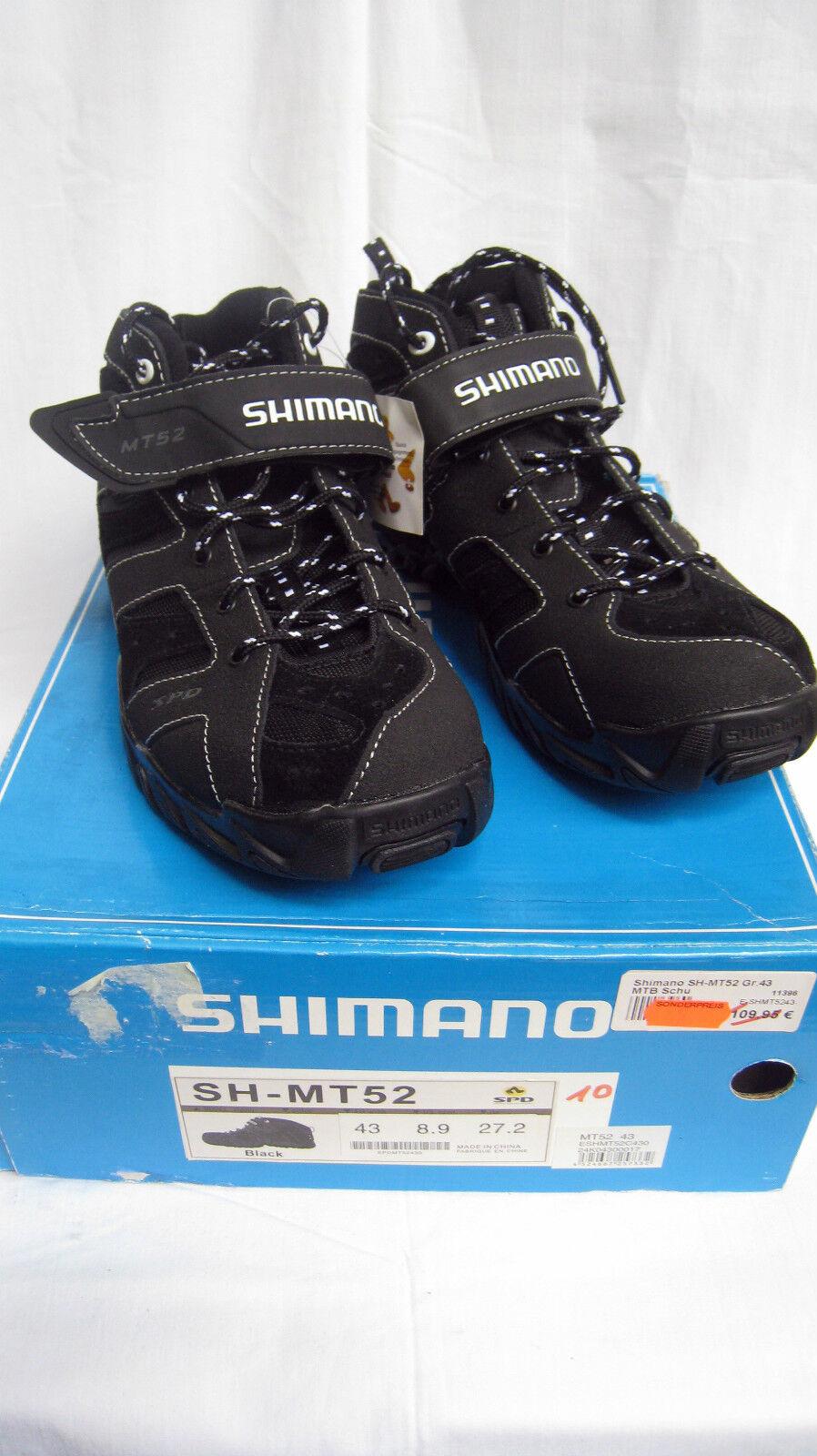 Shimano SH MT 52 MTB Scarpe da uomo, bicicletta calzature, cuoio, NERO mis. 38