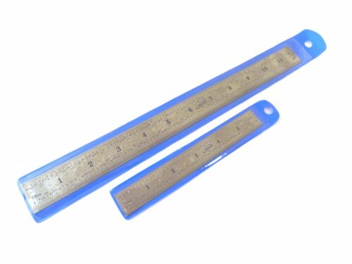 """Metric E//M Stainless Machinist Ruler Igaging 6/"""" 150 mm /& 12/"""" 300 mm English"""