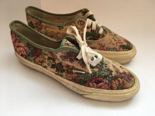 90 floral à morts en Tapestry planche années Sneakers Vans roulettes Vintage animaux toile AWXBUq