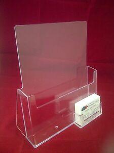 A4 leaflet holder brochure dispenser business card holders display image is loading a4 leaflet holder brochure dispenser amp business card colourmoves