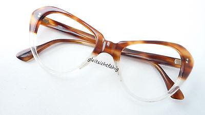 Espressive Real Vintage Occhiali Occhio Di Gatto Grande Marrone Passante Da Collezione Donna Telaio Sizem-mostra Il Titolo Originale