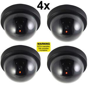 4x-Fake-Dummy-CCTV-Dome-Security-Camera-Flashing-LED-Warning-Sign-UKDC
