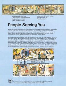 #7307 8c Postal People Stamps #1489-98 Souvenir Page