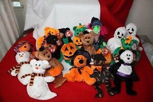 Beanie Babies TY Retired Assorted Bears & Animals Plush - Halloween Themed