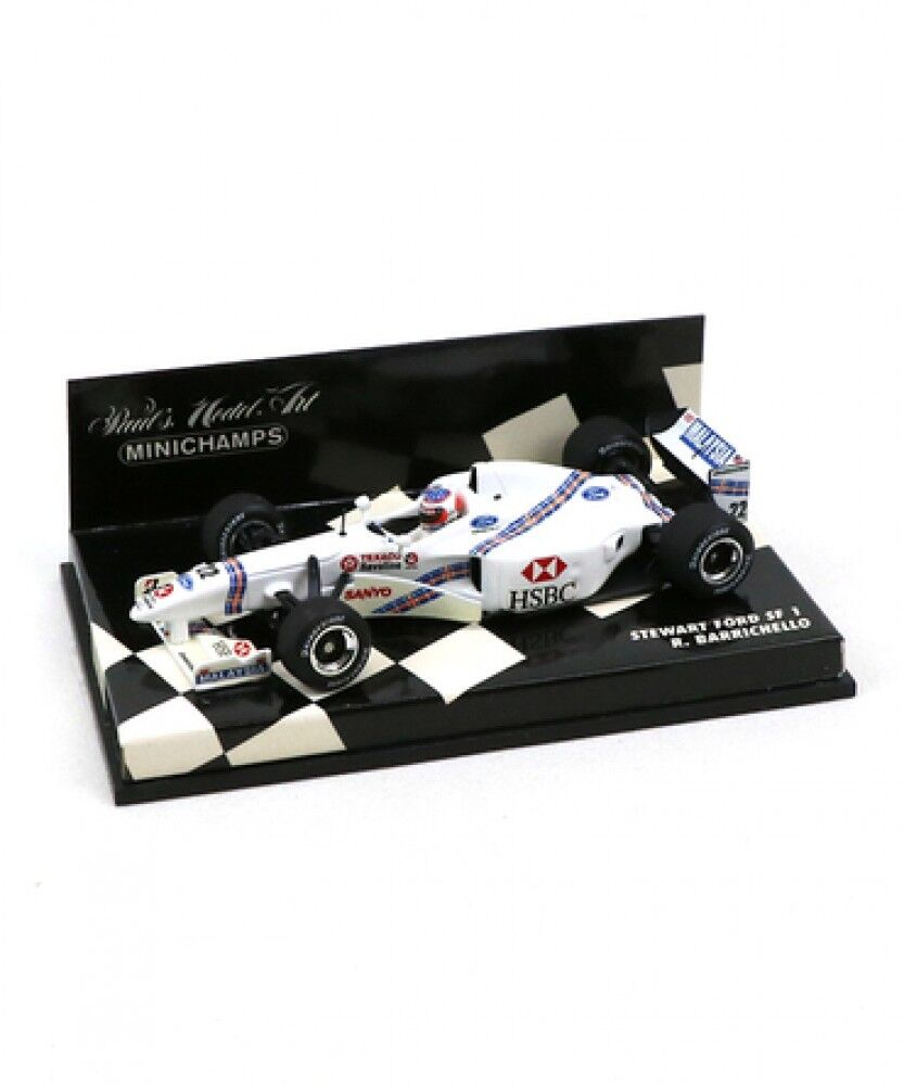 Nouveau Mini champs échelle 1 43 Stewart Ford SF1 R. Barrichello Voiture Modèle Japon