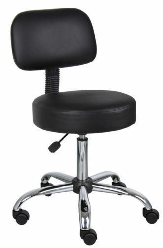 Black Doctor Dental Medical Exam Stool Office Chair With Backrest | EBay