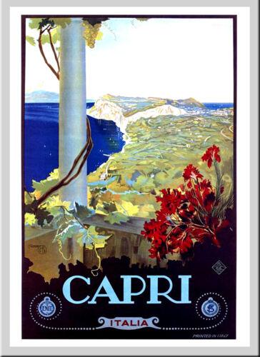 CAPRI ITALY A3 vintage retro travel /& railways posters art wall decor  #3