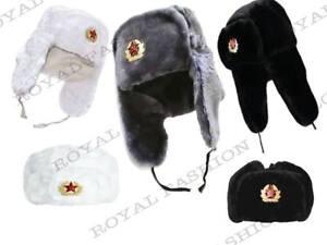 Men-039-s-Ladies-Unisex-Warm-Winter-Fur-Russian-Trapper-Ear-Flap-Ushanka-Ski-Hat