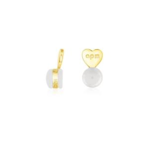APM Monaco Earrings // Boucles d/'oreilles AV828Y FERMOIR CLAPS Gold
