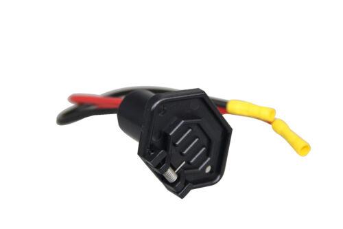 Pactrade Marine Boat Trolling Motor Female Socket Connector 12V 2-Wire 10 Gauge