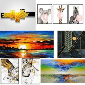 Details zu Wandbilder Leinwand Malen nach Zahlen Malset Vorlagen Mehrteilig  XXL Bilder