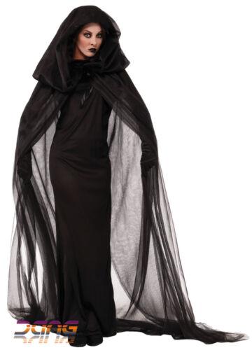 UK Halloween Wicked Witch Fancy Dress Womens Devil Adult Vampire Bride Costume