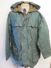 "Vintage BELSTAFF Nylon Hooded Raincoat Mac Coat L 42-44"" Euro 52-54 - Green"