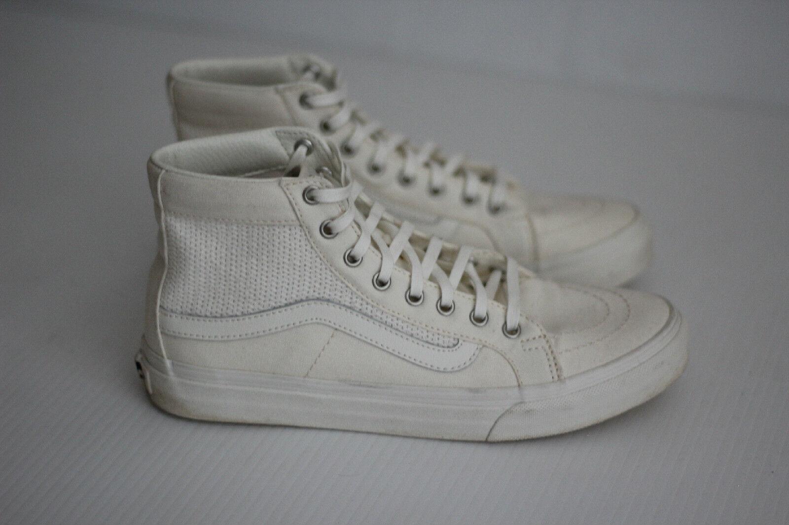 03957cdbbf7 Vans Classic Classic Classic Sk8 Hi Top Sneaker - All White True White -  Mens 6.5