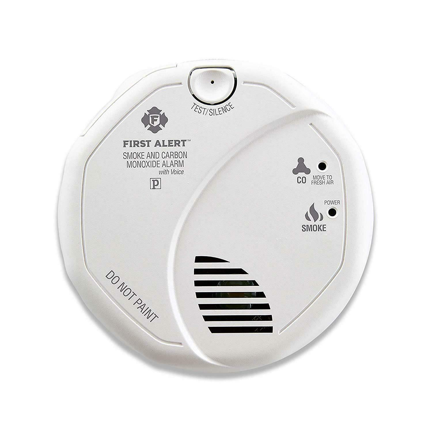 First Alert BRK SC7010BV 6 Pack Talking Photoelectric Smoke and CO Detector