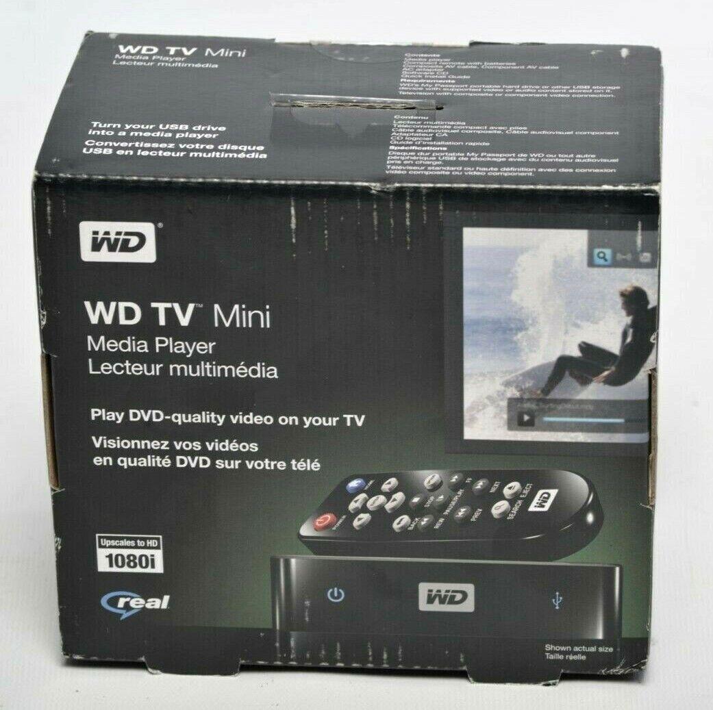 NEW Western Digital WD TV Mini Streaming Media Player WDBAAL0000NBK-NESN digital media mini new player streaming western