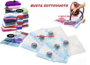 3BUSTE-SOTTOVUOTO-SALVASPAZIO-70x110cm-ABBIGLIAMENTO-ARMADIO-NEGOZIO-FLESSIBILI