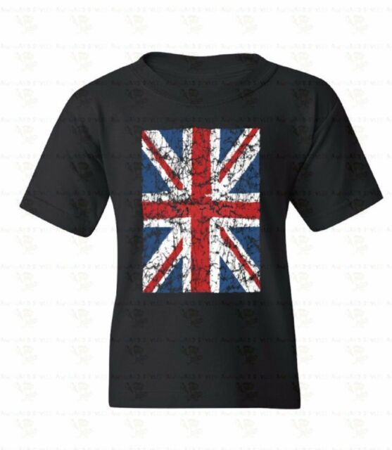 Union Jack Distressed Youth T-shirt British Flag United Kingdom Gift for kids