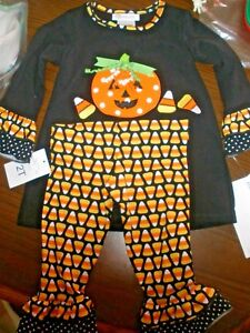 ab0d0e97f2868 NEW Bonnie Jean $46 Baby Toddler 2T Candy Corn Pumpkin Outfit ...