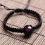 Frauen Männer Schwarz Natur Turmalin Stein Anhänger Kristall Edelstein Armband