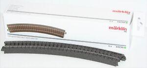Maerklin-H0-24230-S-C-Gleis-gebogen-R2-437-5-mm-30-6-Stueck-NEU-OVP