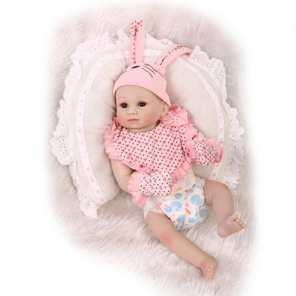 20  realista Muñeca de Vinilo Muñeca Reborn bebé recién nacido muñeca chupete magnético