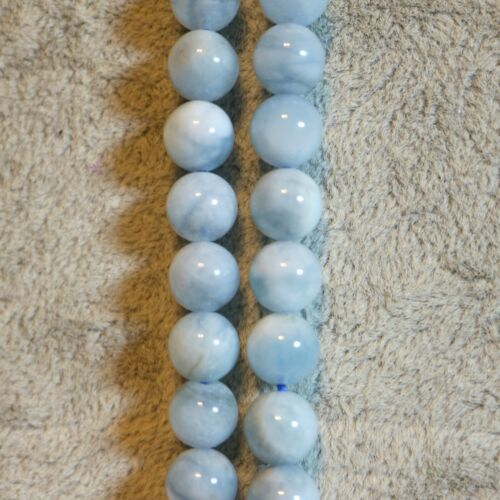 Natural aquamarine beads either 4mm or 6mm or 8mm or 10mm or chips