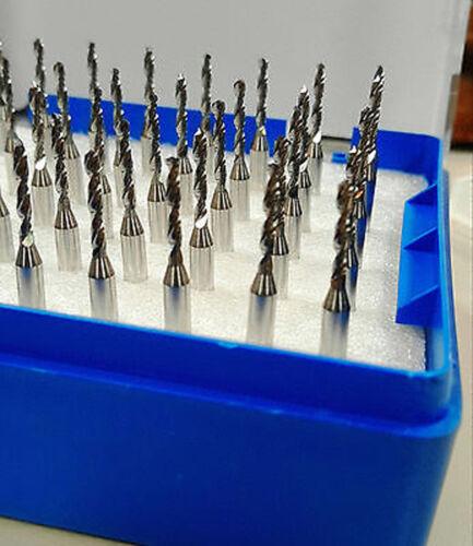 50pcs Carbide Micro Drill Bits 3.175mm x0.25mm x 5mm  CNC PCB Dremel 1//8  Shank