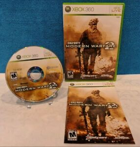 Call of Duty: Modern Warfare 2 (Microsoft Xbox 360, 2009) with Manual - Working