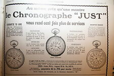 pub ancienne ad 1913 chronographe Just montres -