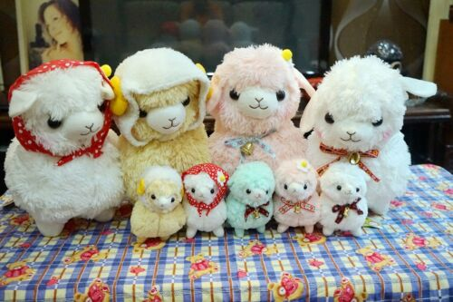 "6"" 16"" Llama Alpaca Alpacasso Bowknot Bell Stuffed Plush Cushion Doll Toy Pillow"