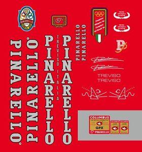 PINARELLO TREVISO FRAME DECAL SET GPX WHITE//BLACK