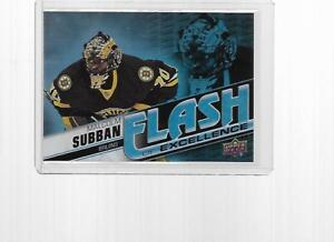 Details about 2015-2016 UPPER DECK OVERTIME HOCKEY FLASH EXCELLENCE MALCOLM  SUBBAN #FDE-19