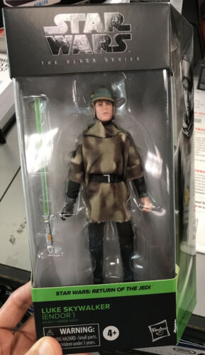 "Star Wars Black Series 6/"" Luke Skywalker Endor Return Jedi New Sealed Knight"