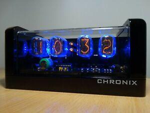 KIT Nixie Clock Vintage IN-12 Tubes Acrylic Transparent Case Blue LED Backlight