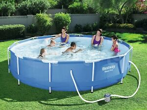 6in1 Garden Swimming Pool 366 Cm 12ft Round Frame Above