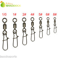 100 Fishing Rolling Swivel With Nice Snap Fishing Tackle Connector Size 8-1/0