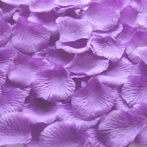 100-2000 Cadbury Purple Silk Rose Petals For Engagement Wedding Confetti Table