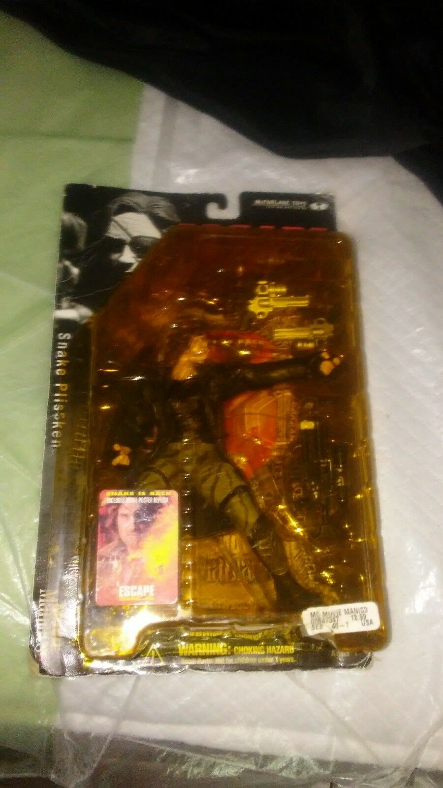 SNAKE PLISSKIN Escape From LA McFarlane Action Figure Movie Maniacs 3