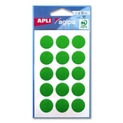 agipa Markierungspunkte 90 Stück ø 19 mm grün Inhalt