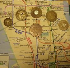 NYC New York City Subway Tokens, TBTA, Map (Da Woiks)