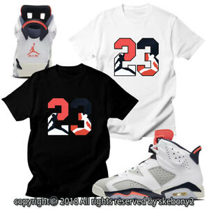 42c89d03d72c CUSTOM T SHIRT MATCHING STYLE OF AIR JORDAN 6 INFRARED Tinker JD 6 ...