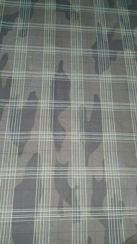 CAMOUFLAGE AND PLAID PRINTED COTTON  FABRIC-Sold by the meter
