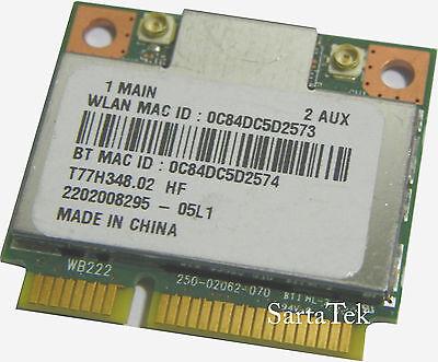 Atheros AR5B22 a//b//g//n Dual-band Wi-Fi Bluetooth 4.0 PCIe Half T77H348.17
