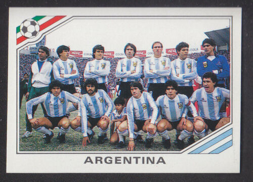 Panini Mexico 86 World Cup # 73 Argentina m Group