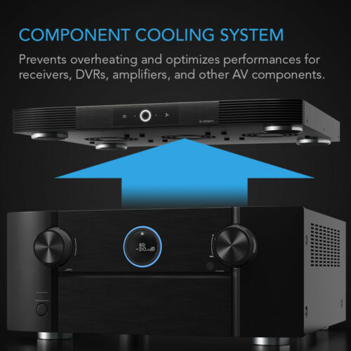 """AIRCOM S9 Quiet Cooling Fan System 17/"""" for Receivers Amps DVR AV Components"""