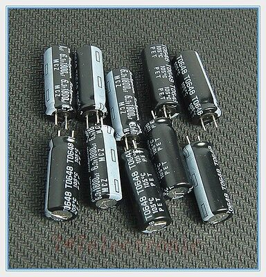 (10pcs) 1800uf 6.3v Rubycon Radial Electrolytic Capacitors 8x20mm Ultra Low ESR