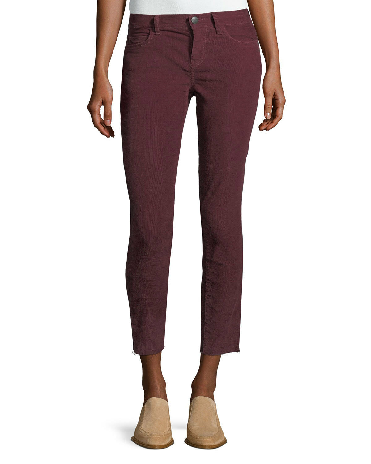 Current Elliot Burgundy Corduroy Skinny Ankle Jeans 'The Stiletto' Size 25